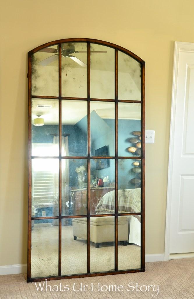 eclectic home tour - antique floor mirror