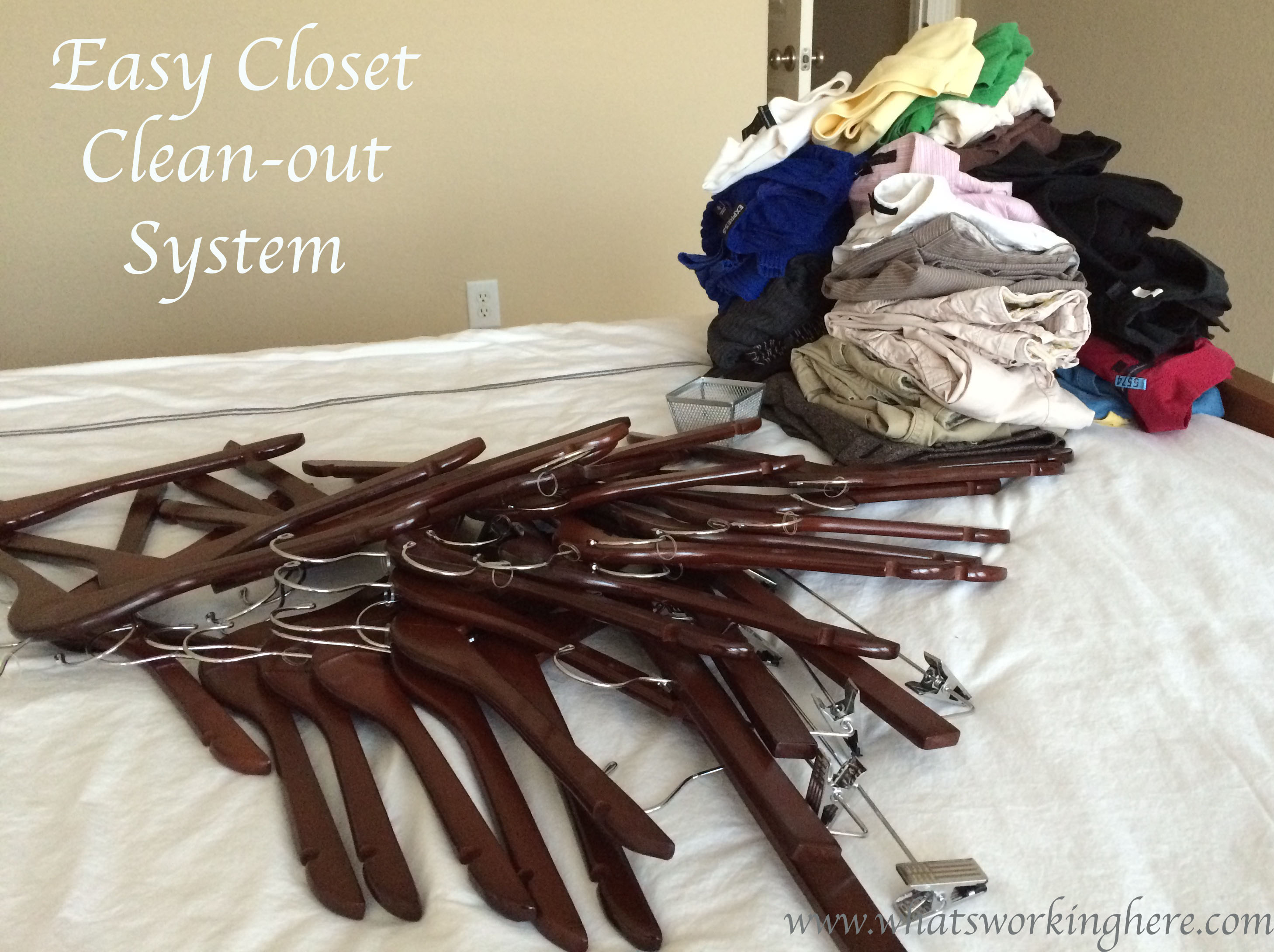 easy closet clean out system what 39 s working here. Black Bedroom Furniture Sets. Home Design Ideas