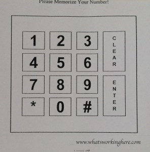 Lunch Keypad
