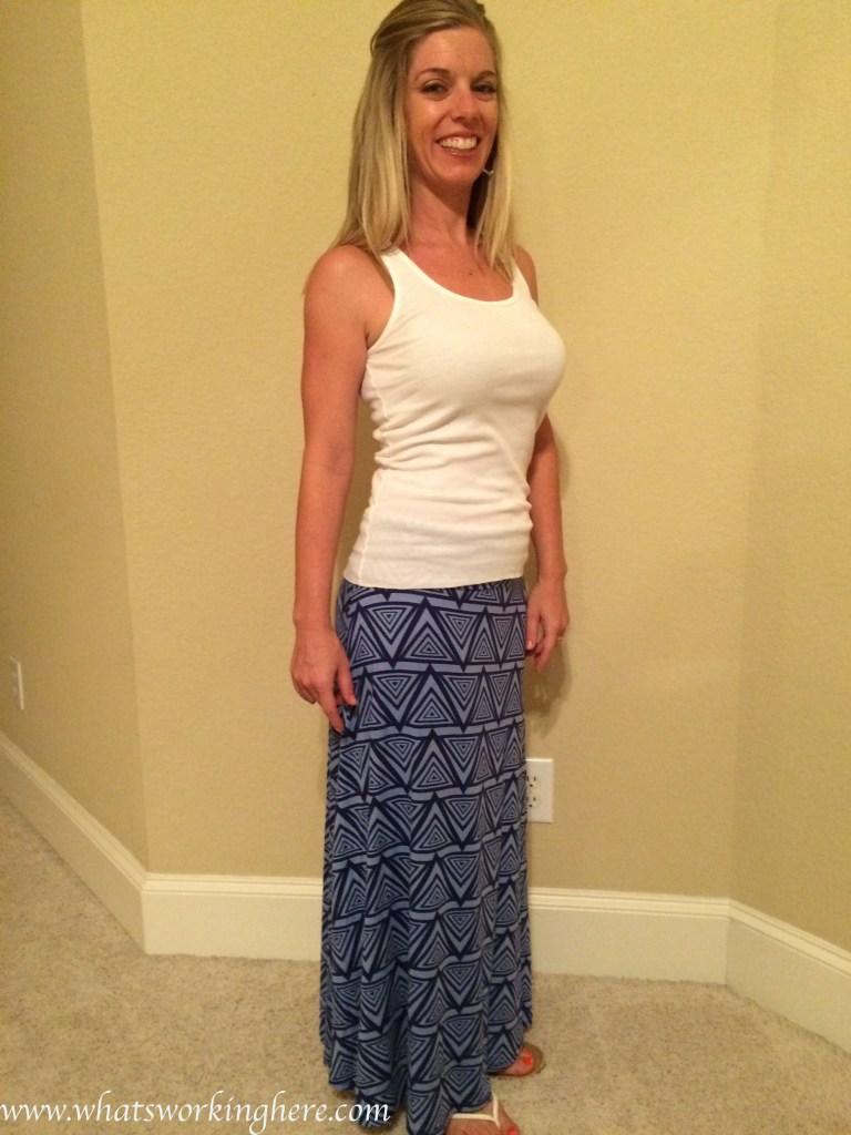 Cheyanne printed maxi skirt