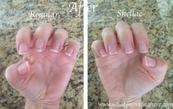 Regular vs Shellac-polish removed