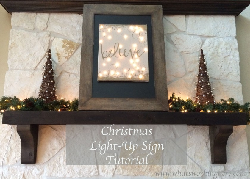 Christmas Light Up Sign Tutorial