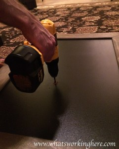 Christmas Light Up Sign Tutorial- board drilling
