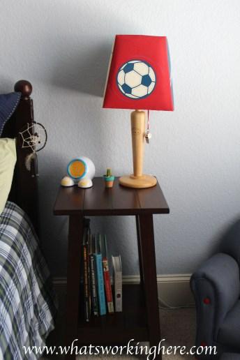 Sporty Boys Room-nightstand