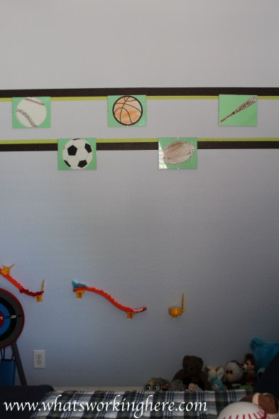 Sports Wall with car track