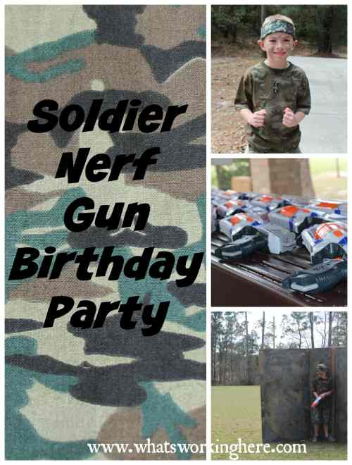 Soldier Nerf Gun Birthday Party