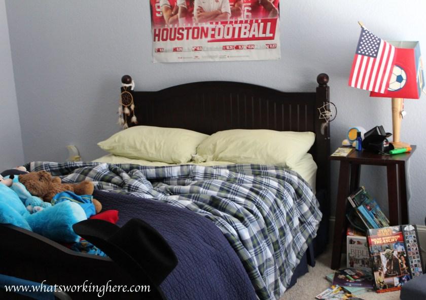 Sporty boys room- reality