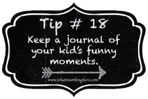 Tip 18- Keep a Journal