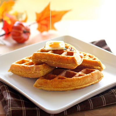 Pumpkin Waffles - From The Girl Who Ate Everything