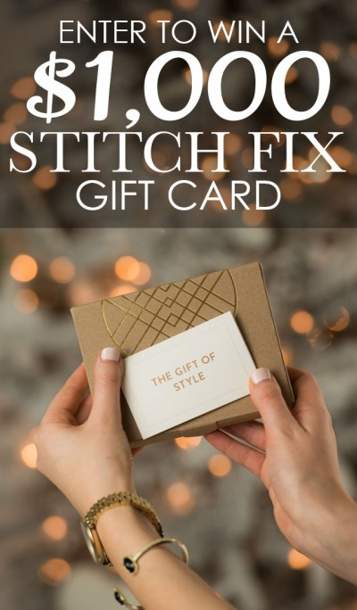 $1000 Stitch Fix Gift Card Giveaway