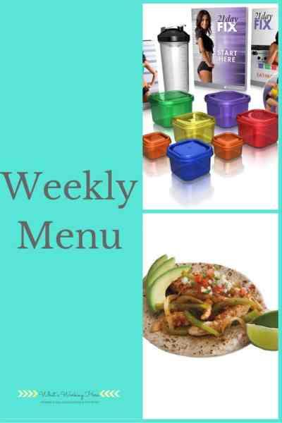 Weekly Menu - Jan 8th