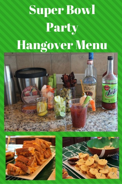 Super Bowl Party Hangover Menu