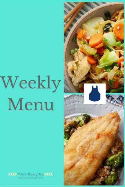 April 2nd Weekly Menu