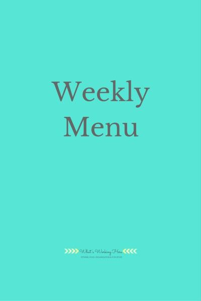 Weekly Menu Meal Plan