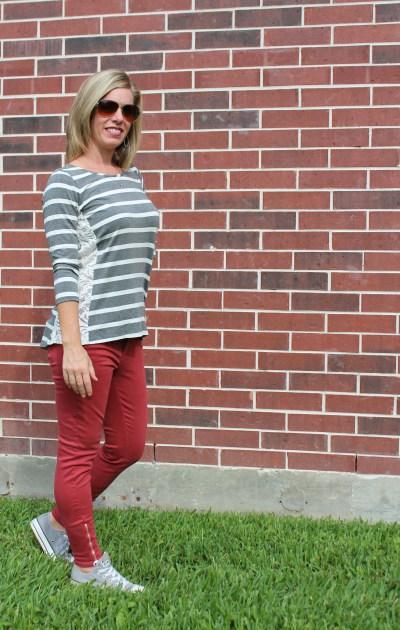 Stitch Fix -Beverley Lace Side Top, Lola Skinny Jean