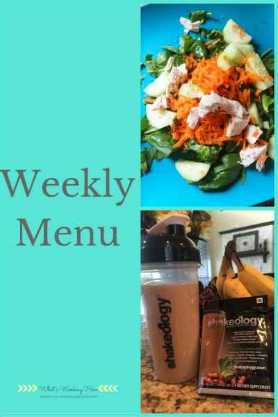 May 21st Weekly Menu