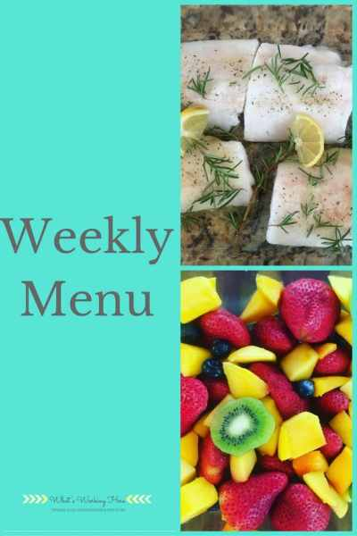 July 9th Weekly Menu