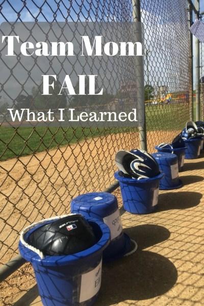 Team Mom Fail