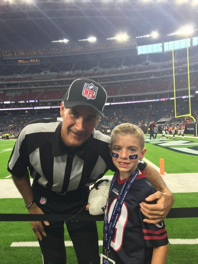 Texans Sideline Experience -Ref pic