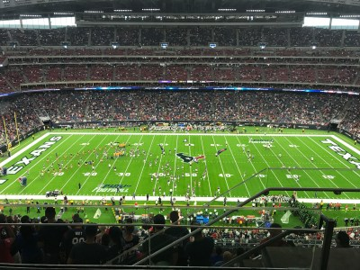 Texans game day -view from our seats