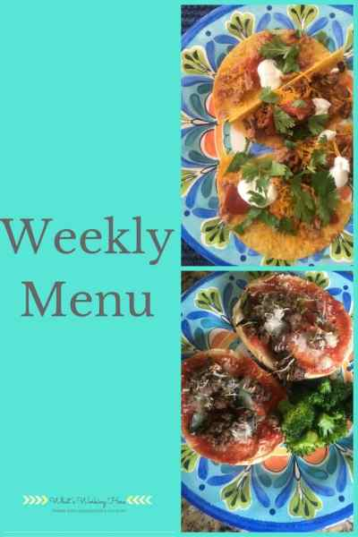 October 22nd Weekly Menu