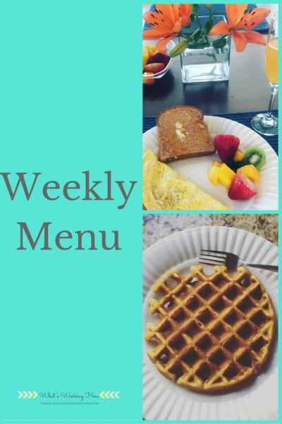 October 29th Weekly Menu - A Cozy Fall Menu