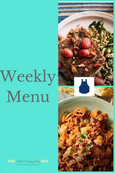 November 5th Weekly Menu