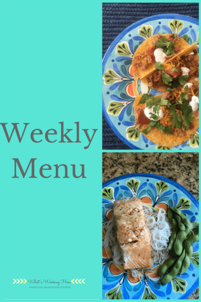 December 17th Weekly Menu