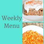 Weekly Menu 4/1/18 – Easter Menu