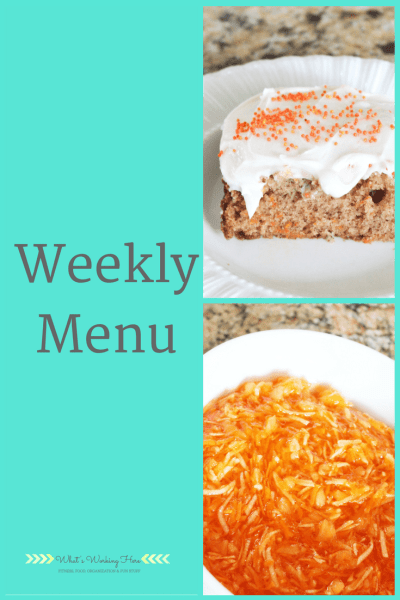 April 1st Weekly Menu - Easter Menu
