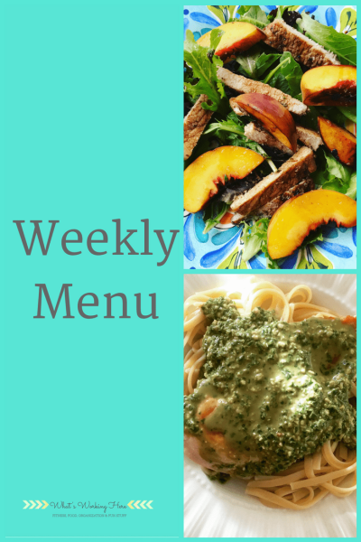 July 8th Weekly Menu - Summer Grilling