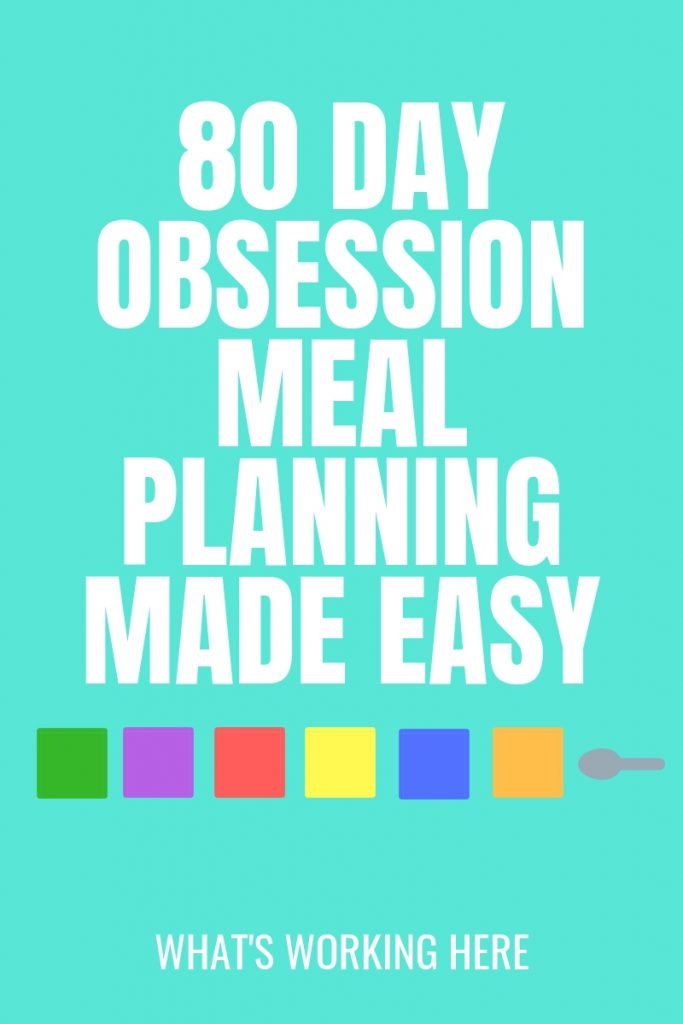 80 Day Obsession Meal Planning Made Easy