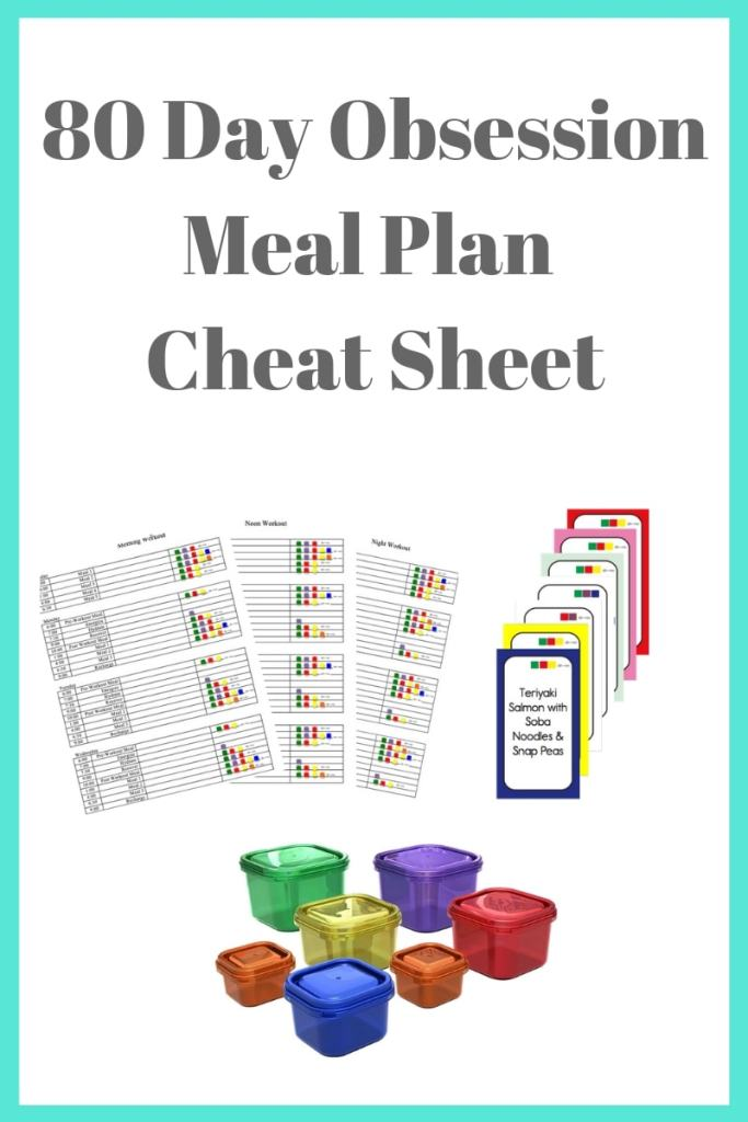 80 Day Obsession Meal Plan Cheat Sheet