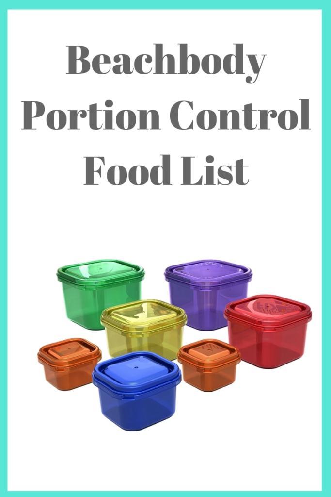 Beachbody Portion Control Food List