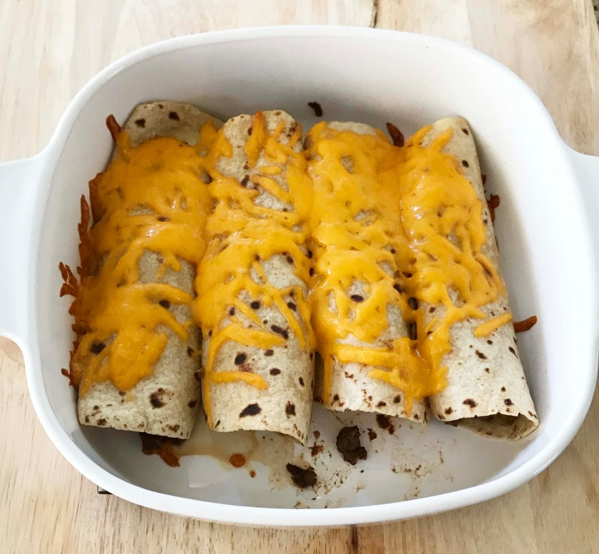 Easy Beef Burritos - a tasty way to use up leftover taco meat