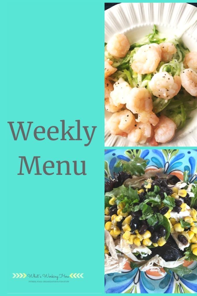 Bikini Ready Meal Plan - shrimp & zoodles, healthy southwest chicken salad