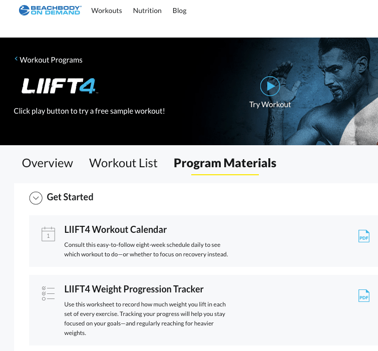 How to find the LIIFT4 Weight Tracker