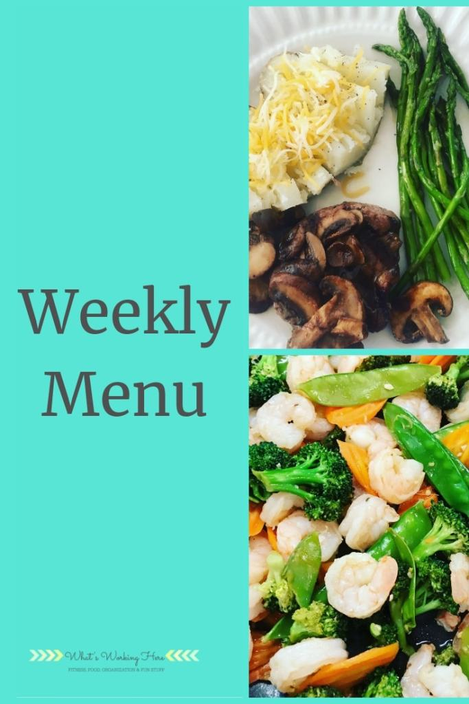 Oct 14th Weekly Menu - 21 Day Fix Extreme