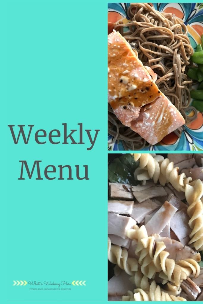 Oct 21st Weekly Menu - 21 day fix countdown to competition