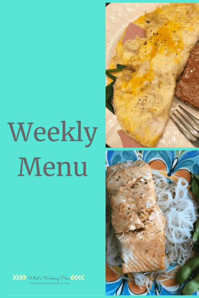 Sept 2 Weekly Menu- Breakfast for dinner