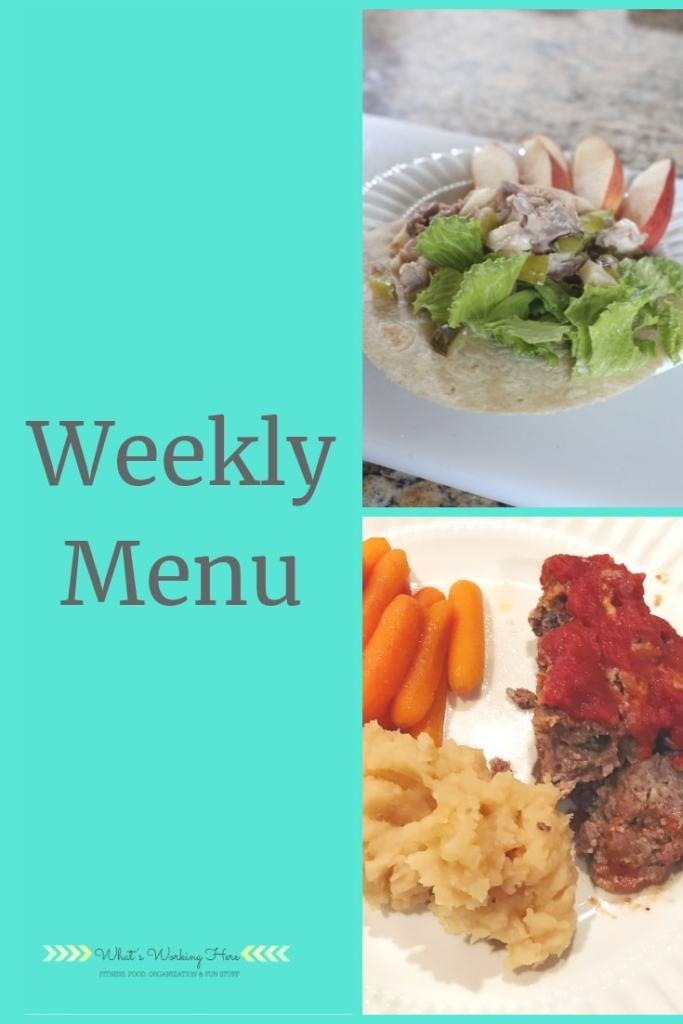 april 28 Weekly Menu following Ultimate Portion Fix
