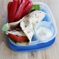 Healthy Bacon Chicken Ranch Wrap