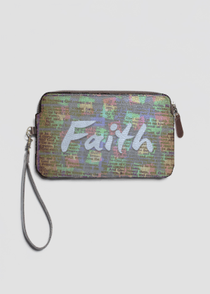Faith Leather Clutch by Patricia Griffin