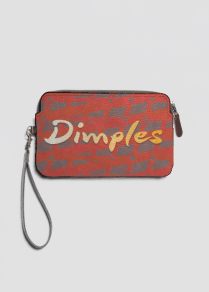 Dimples Leather Clutch by Patricia Griffin