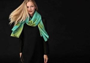 Gilded Rhythm scarf by Patricia Griffin