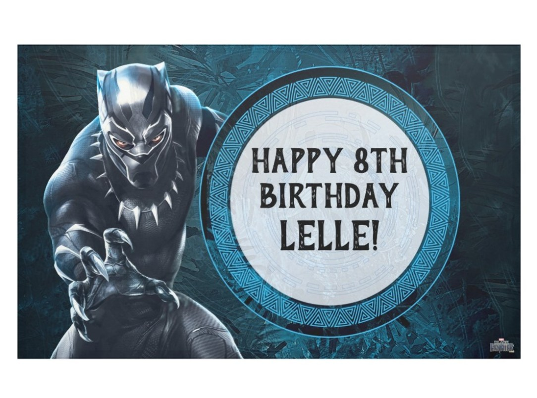 Black Panther Birthday Banner
