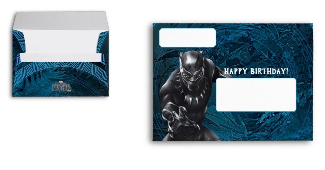 Black panther custom envelopes