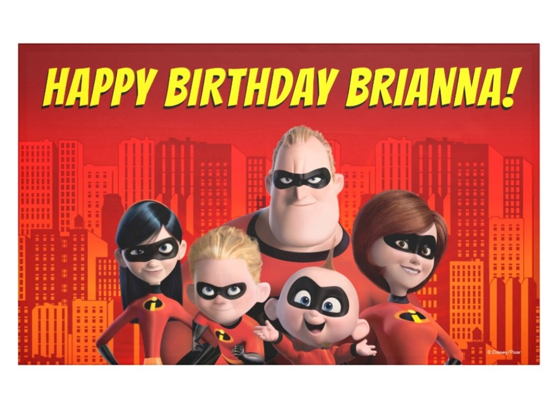 Incredibles Birthday Banner