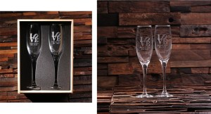 His and Hers Champagne Glasses - Personalized