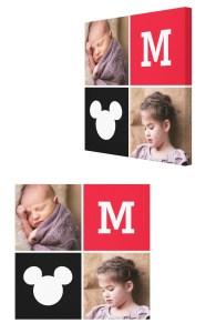 Mickey Mouse Custom Photo Canvas